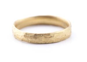 Ring in Roségold 585/- mit Struktur