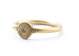 Ring in Roségold 585/- mit Brillanten