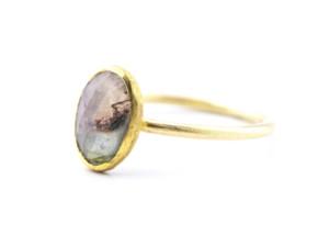 Ring in Gelbgold 750/- mit Turmalinrose