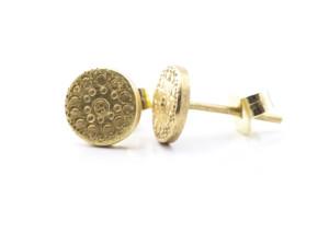Ohrringe: Gelbgold 750/-, punziert