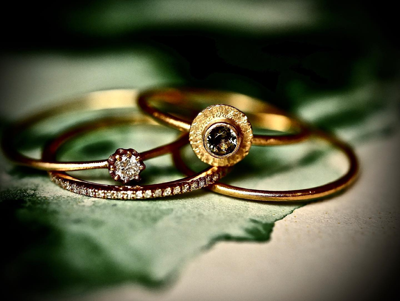 Ringe in Gelbgold mit Brillianten